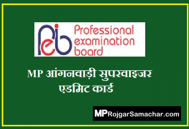 MP Anganwadi Supervisor Admit Card