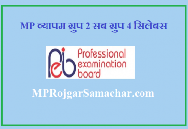 MP Vyapam Group 2 Sub Group 4 Syllabus 2021
